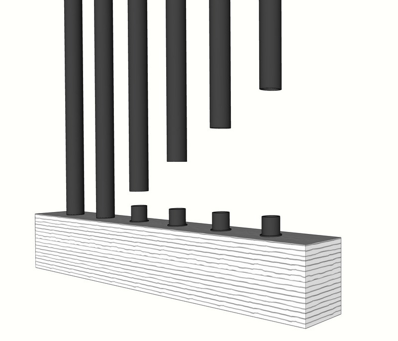 26 inch Stell Balusters Round
